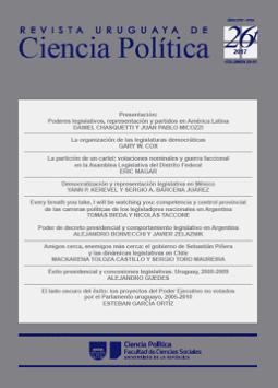 Tapa de la Revista Uruguaya de Ciencia Política